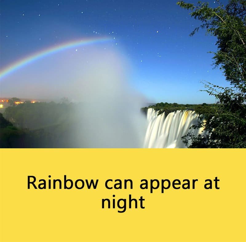 Science Story: Rainbow can appear at night