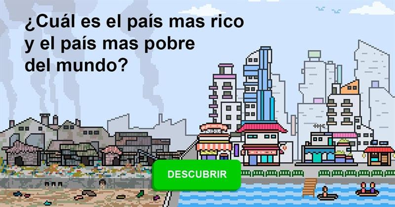 Geografía Historia: ¿Cuál es el país mas rico y el país mas pobre del mundo?