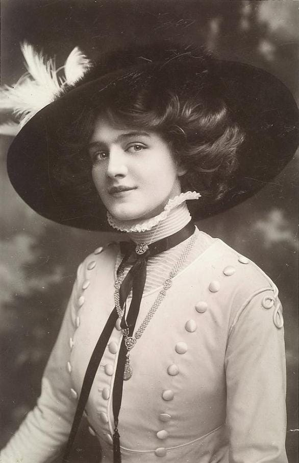 History Story: #15 Lily Elsie, an English actress and singer during the Edwardian era