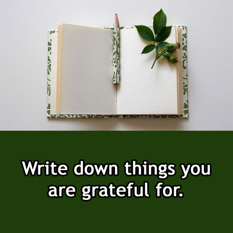 Society Story: Write down things you are grateful for.