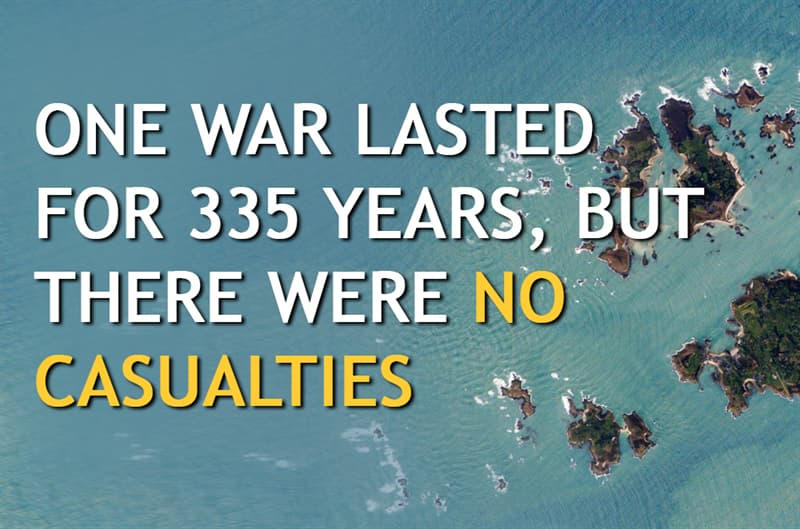 History Story: One war lasted for 335 years, but there were no casualties