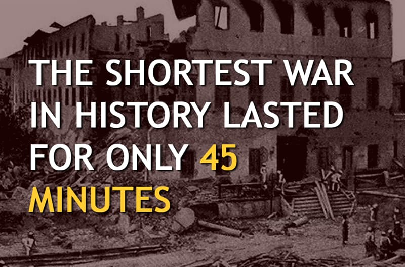 History Story: The shortest war in history lasted for only 45 minutes