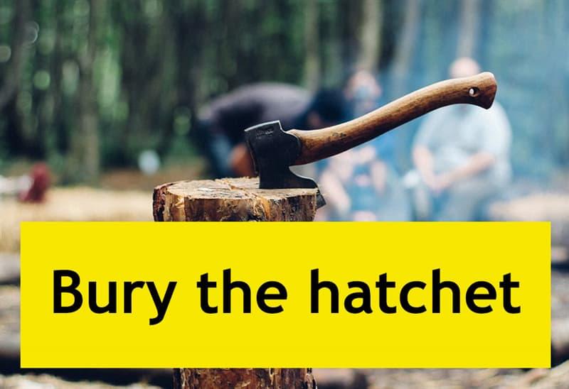 Culture Story: #1 Bury the hatchet