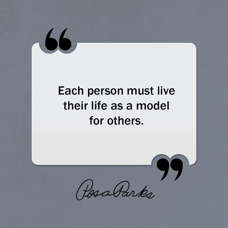 Society Story: Each person must live their life as a model for others.