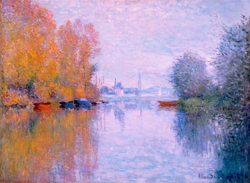 art Story: Autumn on the Seine, Argenteuil by Claude Monet: