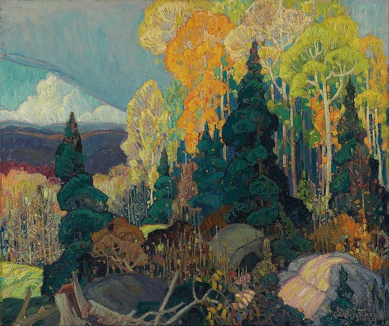 art Story: That's how Franklin Carmichael, a Canadian artist, saw autumn: