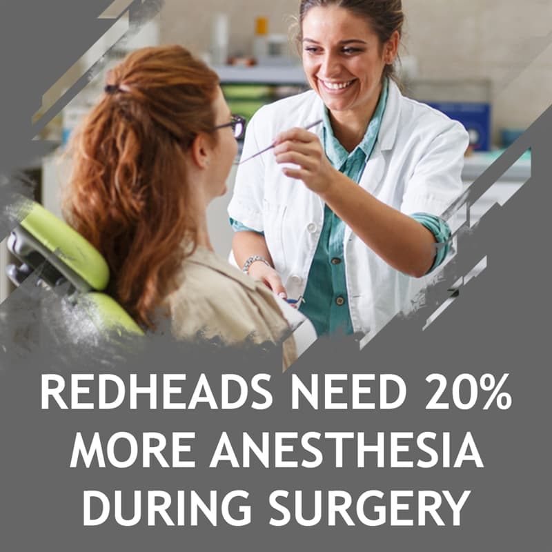 Science Story: Redheads need 20% more anesthesia during surgery