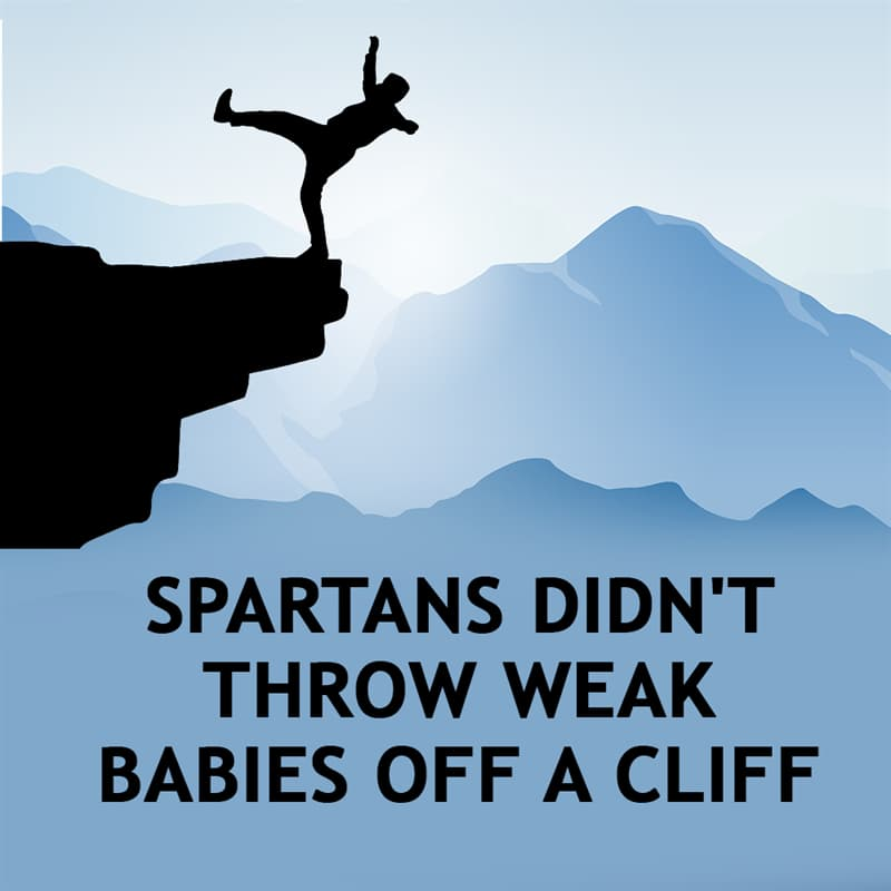 History Story: Spartans didn't throw weak babies off a cliff