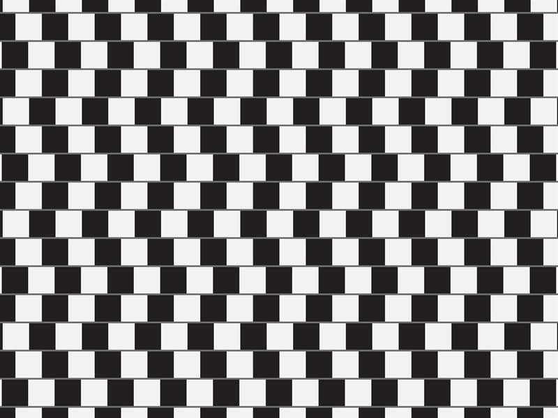 Science Story: black and white optical illusion with parallel lines