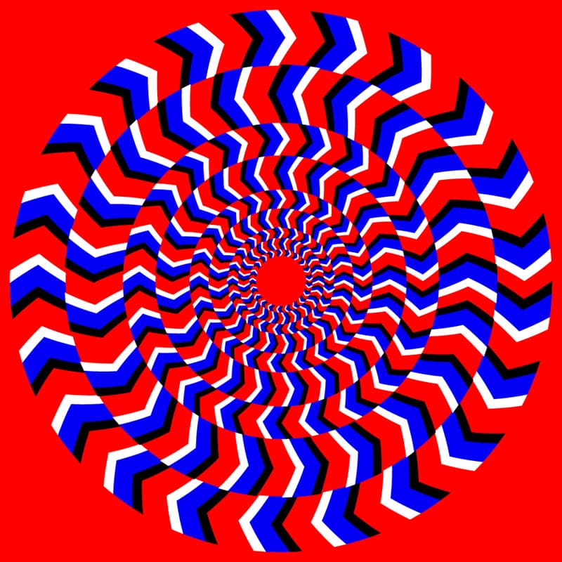 Science Story: Red and blue Perpetual rotation optical illusion