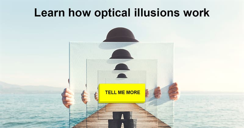 Science Story: Don't trust your eyes: how do optical illusions work? Examples included