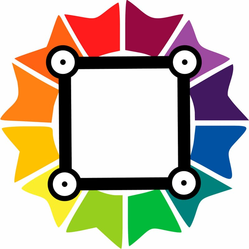 color Story: square colors on the color wheel