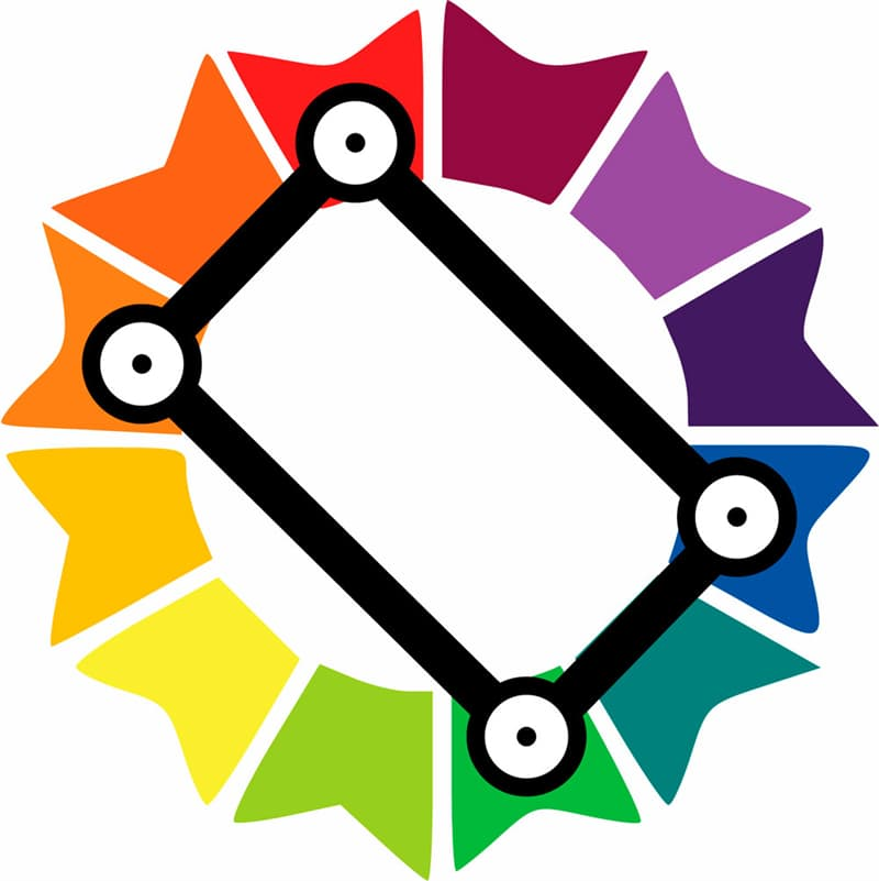 color Story: tetradic or rectangle colors on the color wheel