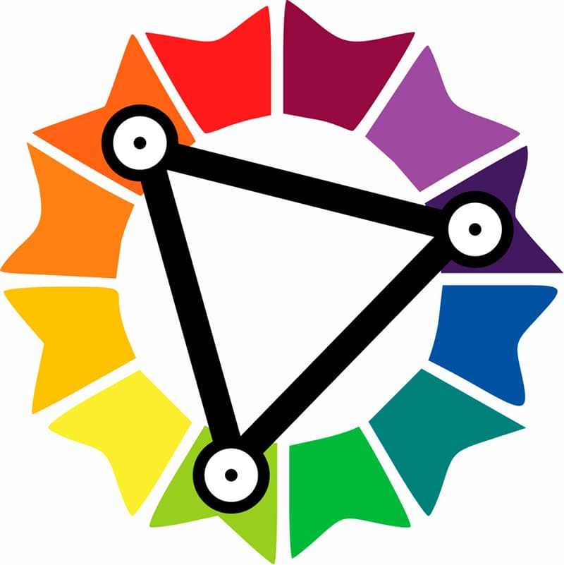 color Story: triadic colors on the color wheel