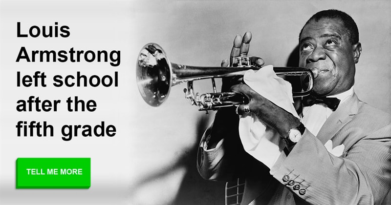 Society Story: Intriguing peculiarities of Louis Armstrong's life