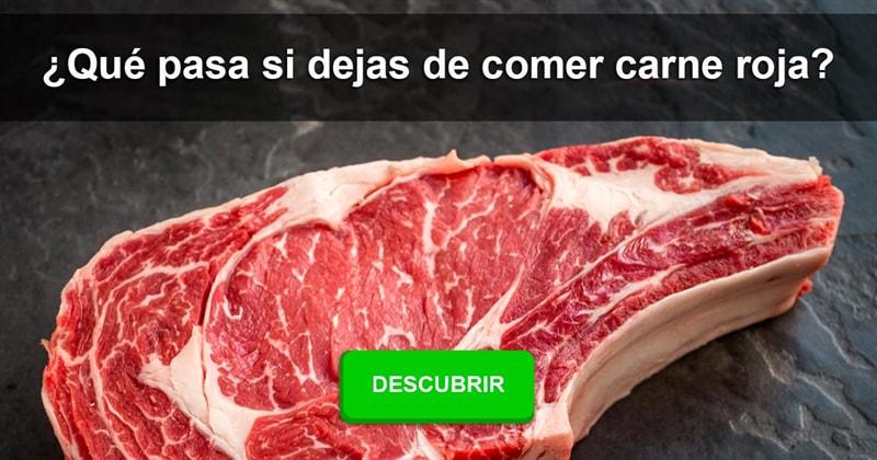 Sociedad Historia: ¿Qué pasa si dejas de comer carne roja?