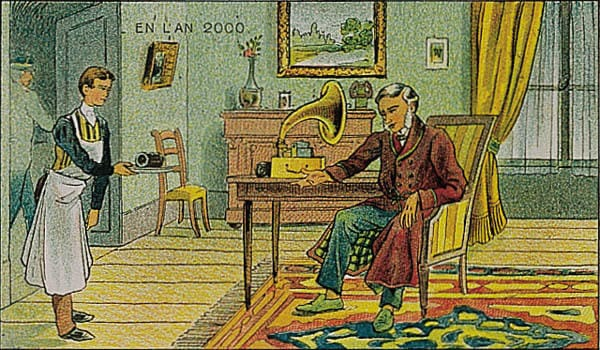 """History Story: #6 France in 2000 year (1910) – listening to """"phonographic messages"""":"""