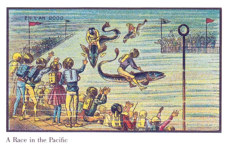 History Story: Fish riding in the Pacific – do you think we will invent such sport one day?