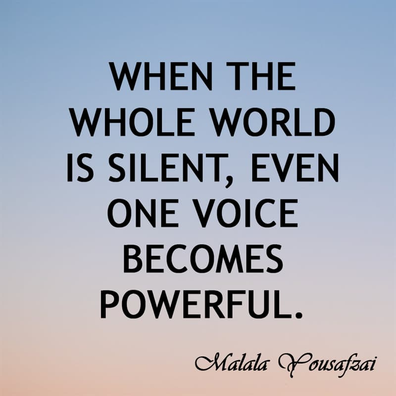 Society Story: When the whole world is silent, even one voice becomes powerful.