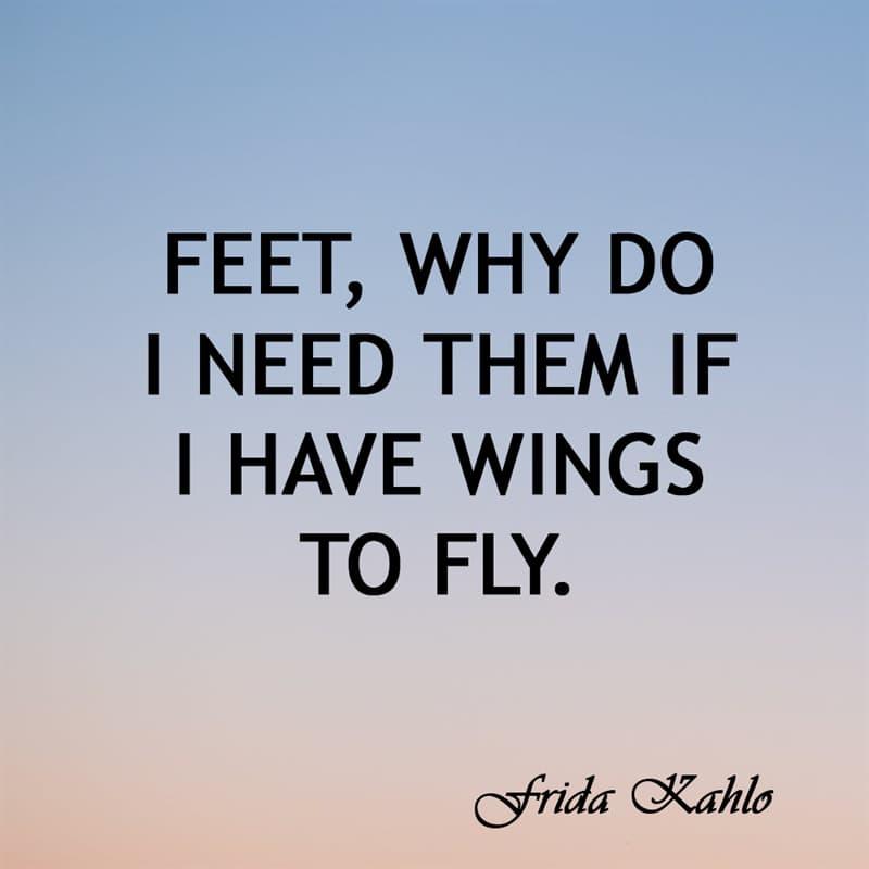 Society Story: Feet, why do I need them if I have wings to fly.