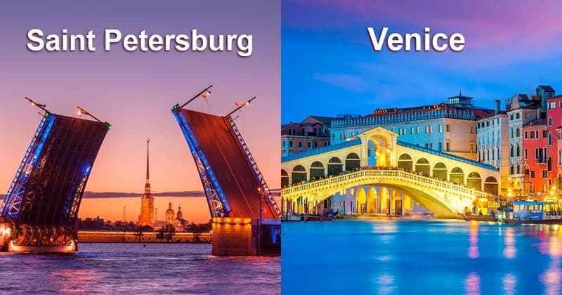 Society Story: #3 There are 3 times more bridges in Saint Petersburg than in Venice