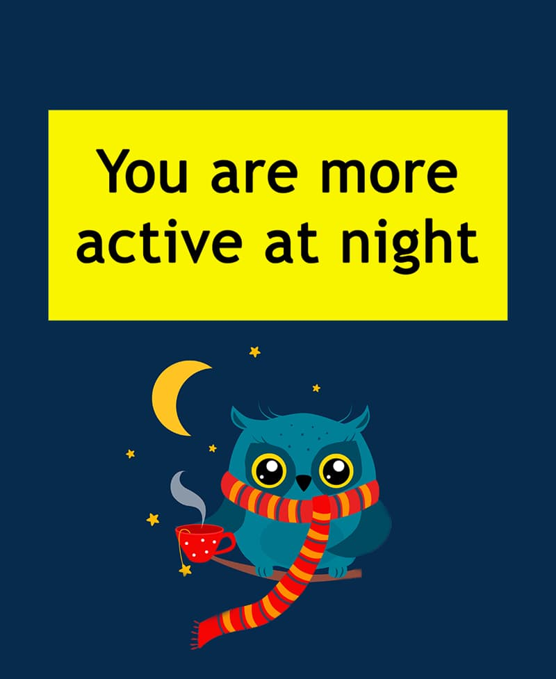 Science Story: You are more active at night