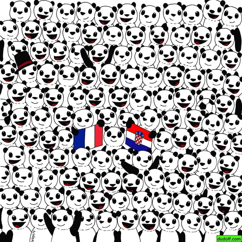 IQ Story: #3 Find a football among these pandas.