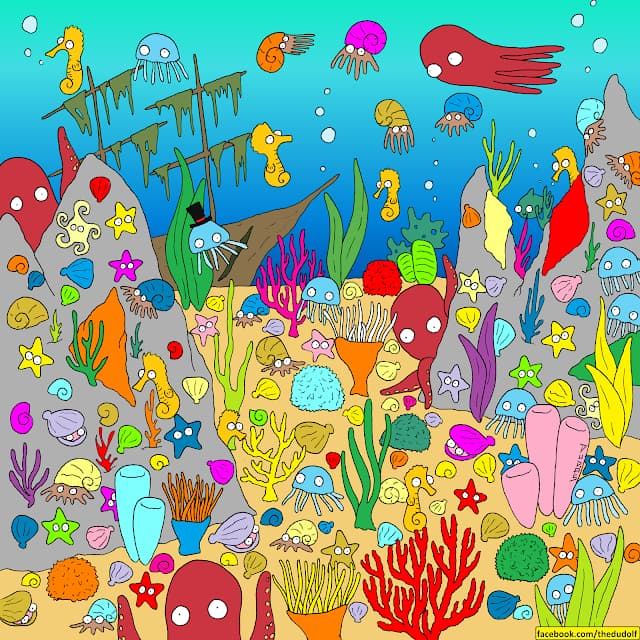 IQ Story: #8 Can you find the fish at the bottom of the ocean?