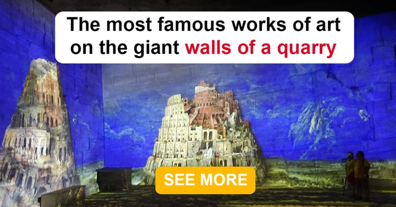 Culture Story: Great paintings recreated on the enormous walls of this limestone quarry will amaze you