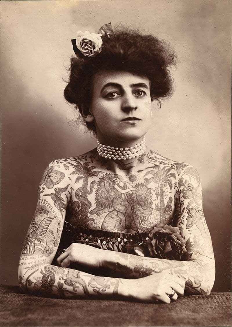 Society Story: #1 Maud Wagner - the first female tattoo artist (1907)