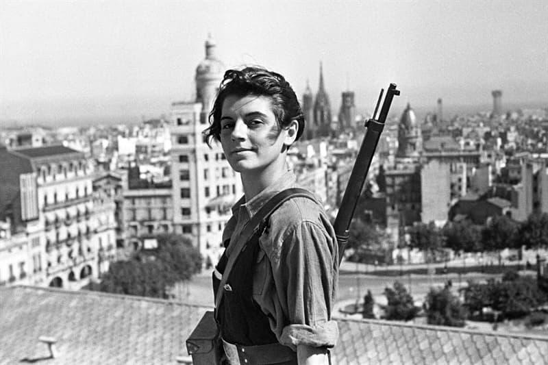Society Story: #7 17 years old Marina Ginesta overlooking Barcelona during the Spanish Civil War (1936)