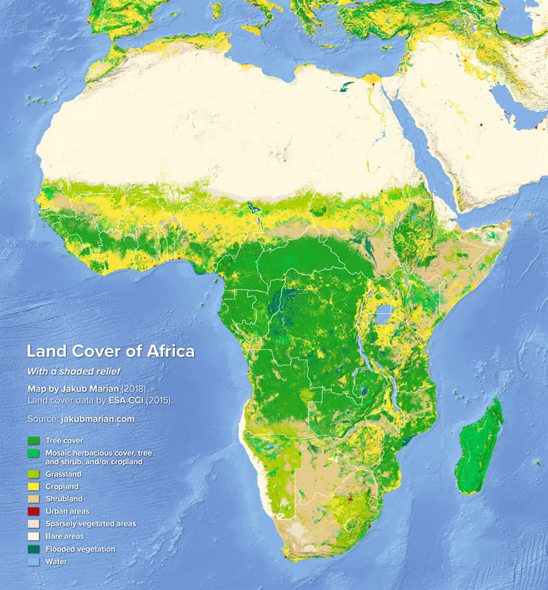 Geography Story: #10 Land cover of Africa