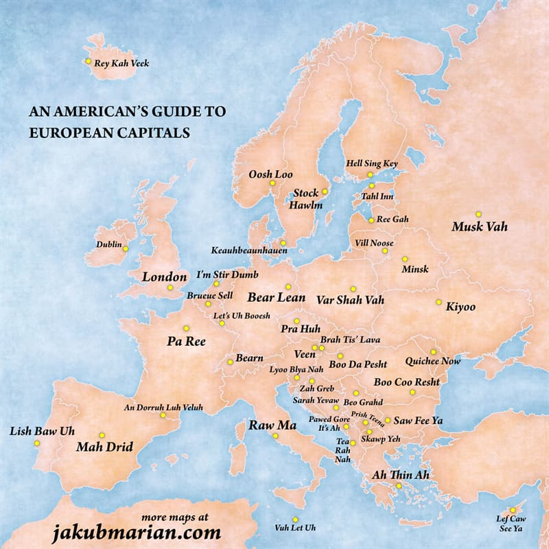 Geography Story: #9 An American's guide to European capitals
