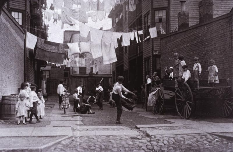 Geography Story: #2 Boston alley playground, 1909