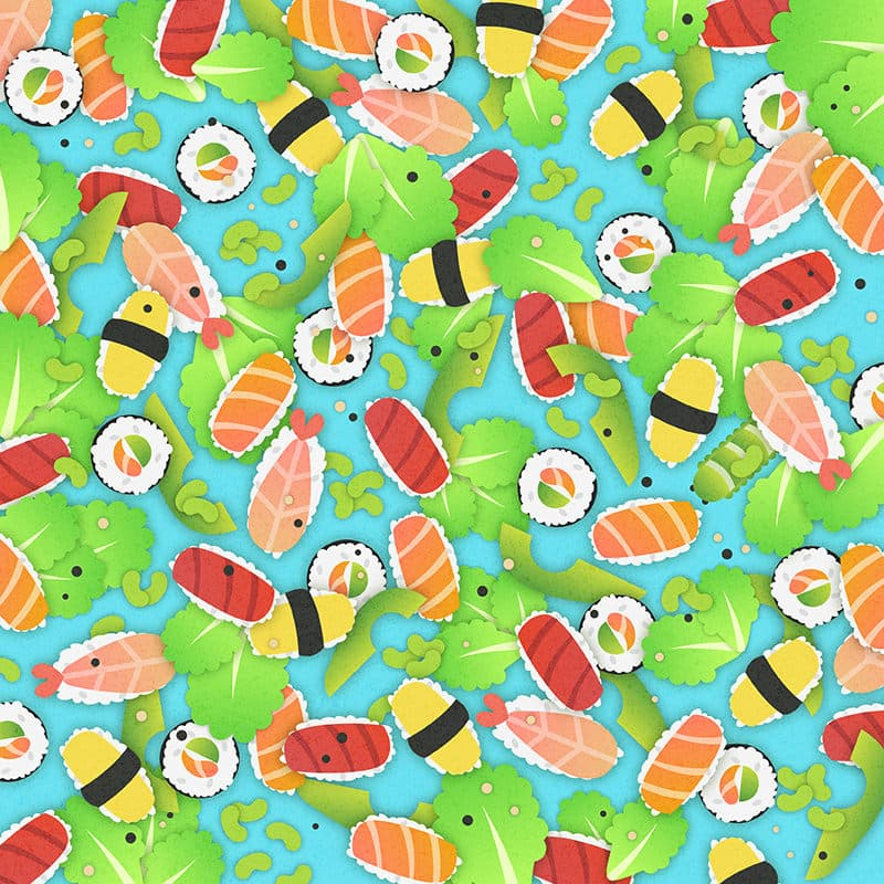 color Story: find hidden objects puzzle sushi rolls