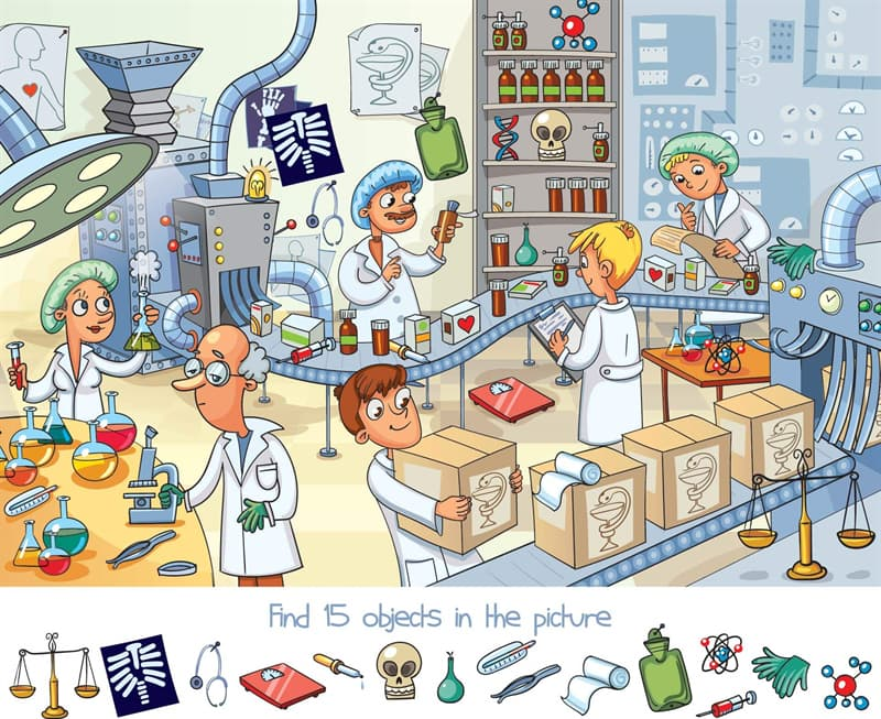 color Story: find hidden objects puzzle people profession job work science for kids developing