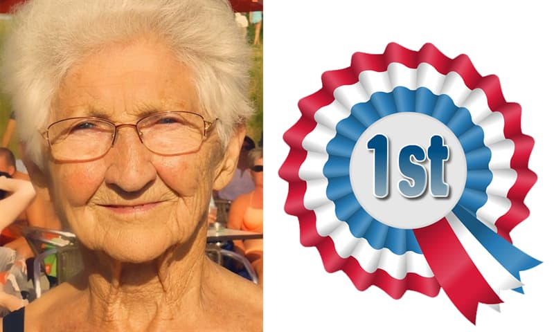 age Story: She got her name in the Guinness Book of World Records.