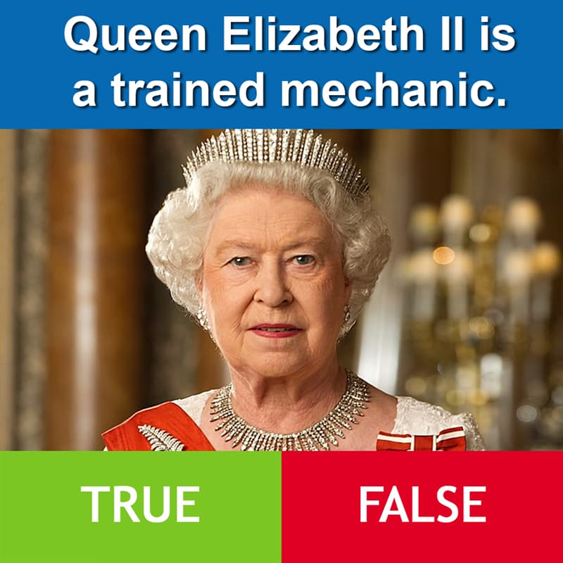 Culture Story: Queen Elizabeth II is a trained mechanic.