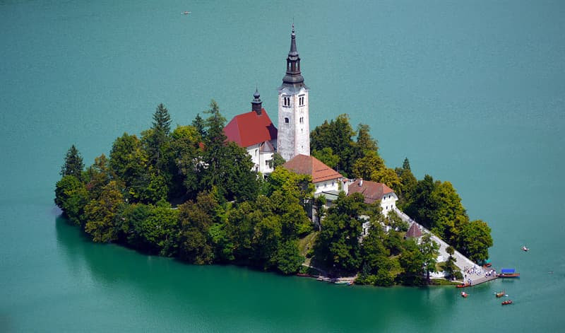 Geography Story: #12 The Church of the Assumption, Lake Bled, Slovenia