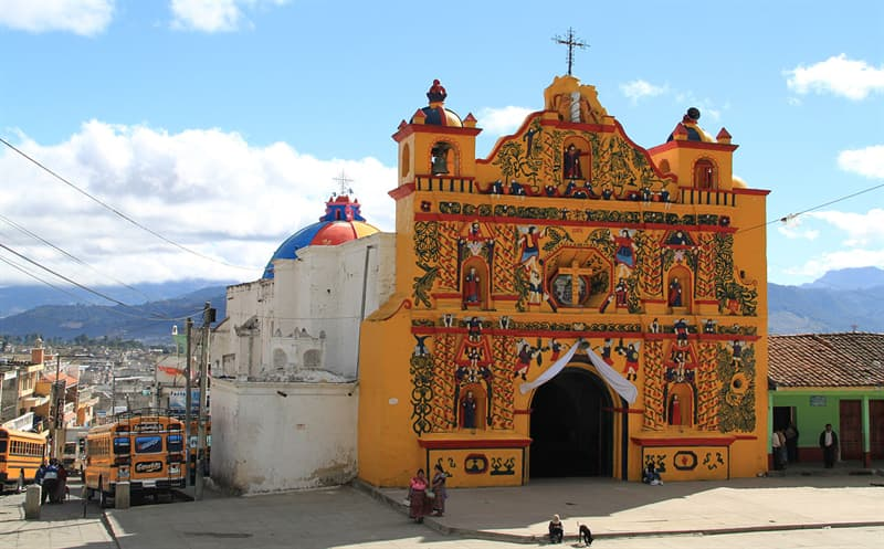 Geography Story: #14 San Andrés Xecul Church, Totonicapán department of Guatemala.