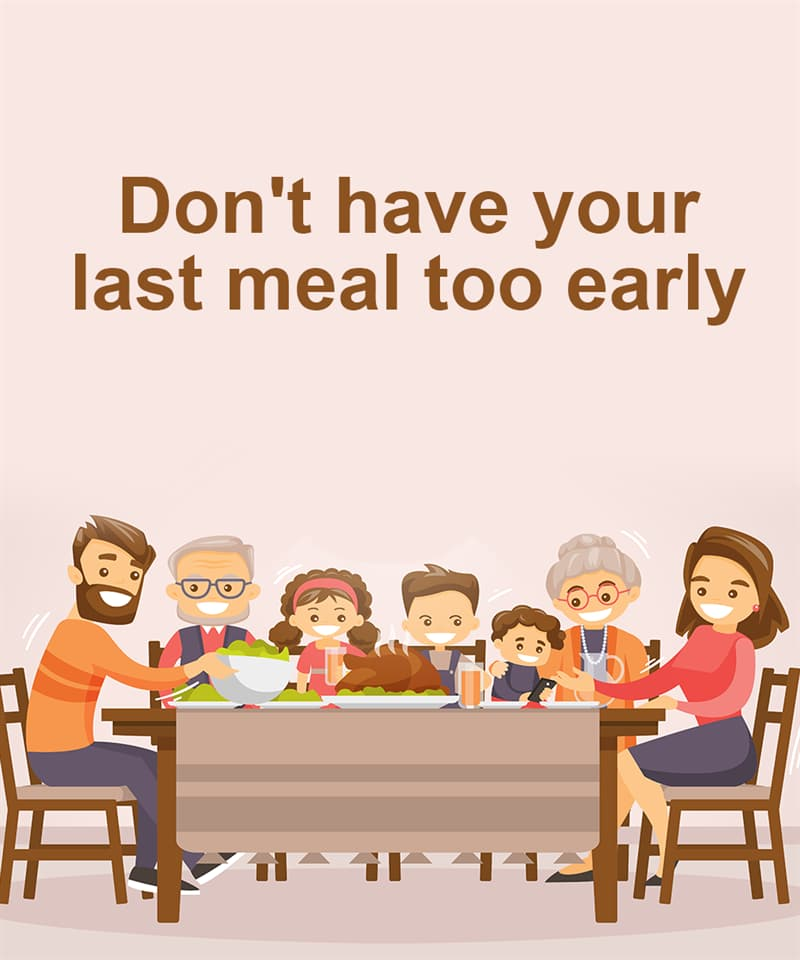 Science Story: Don't have your last meal too early