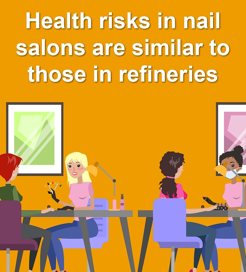 Science Story: Health risks in nail salons are similar to those in refineries
