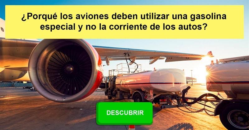 Сiencia Historia: ¿Porqué los aviones deben utilizar una gasolina especial y no la corriente de los autos?