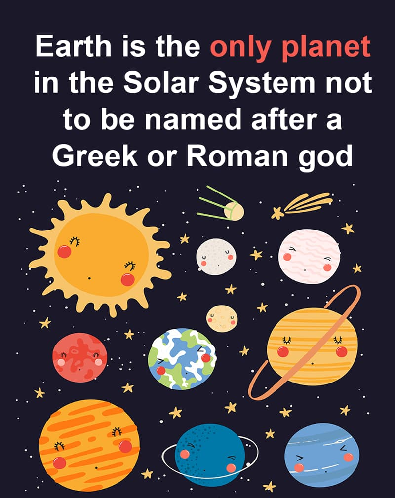 Geography Story: Earth is the only planet in the Solar System not to be named after a Greek or Roman god