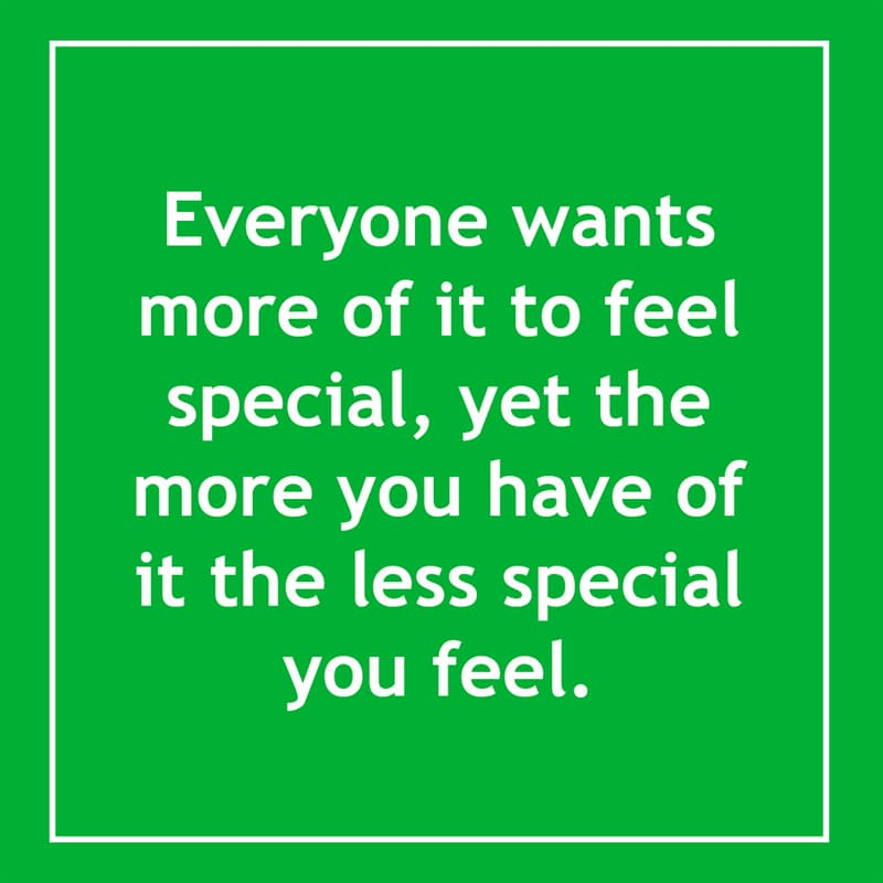 IQ Story: Everyone wants more of it to feel special, yet the more you have of it the less special you feel. 10 short riddles most people will find confusing