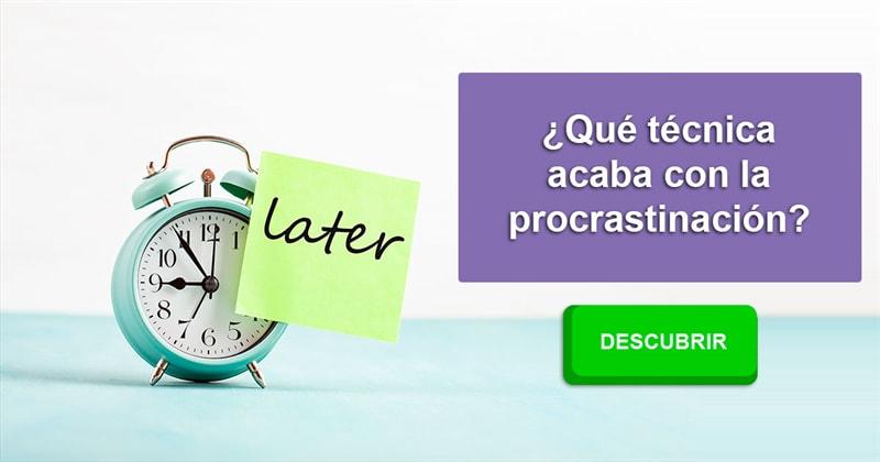 Personalidad Historia: ¿Qué técnica acaba con la procrastinación?