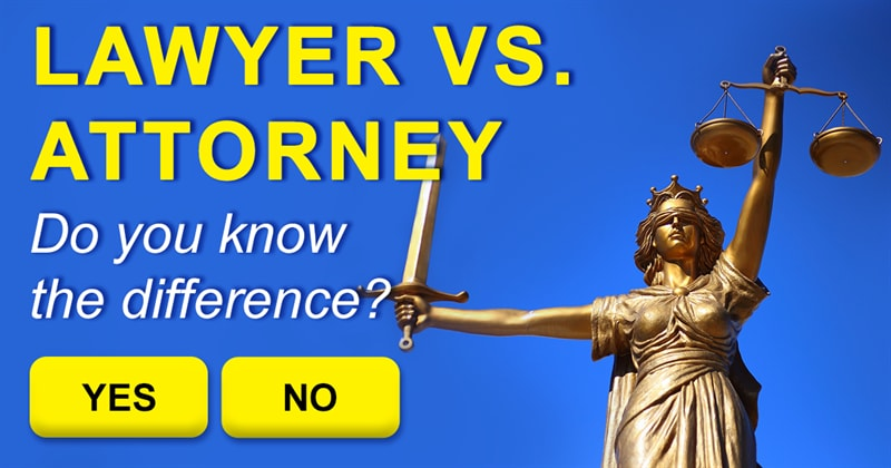 Society Story: What's the difference between an attorney and a lawyer?