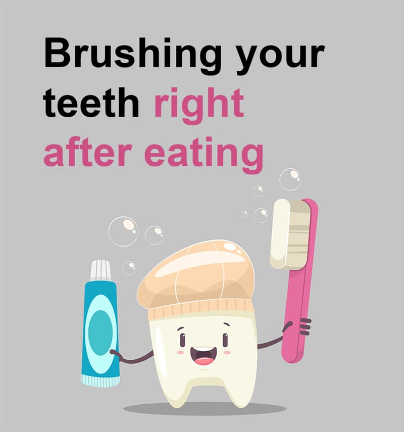 Science Story: Brushing your teeth right after eating