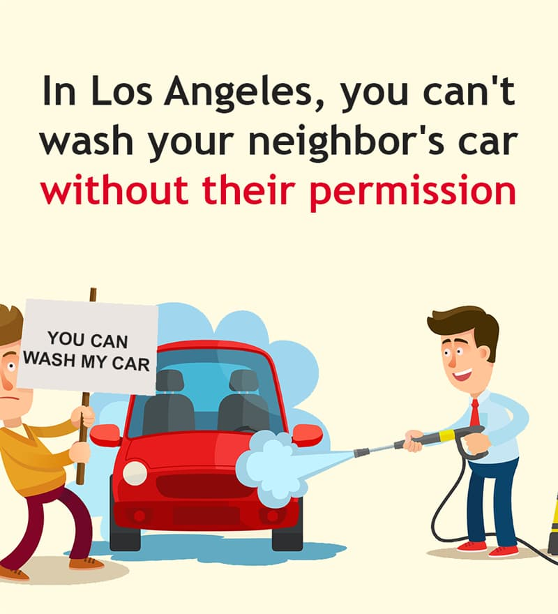 Society Story: In Los Angeles, you can't wash your neighbor's car without their permission