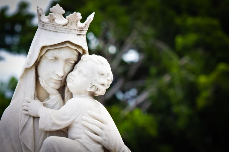 Society Story: #4 The virgin Mary carrying a baby Jesus